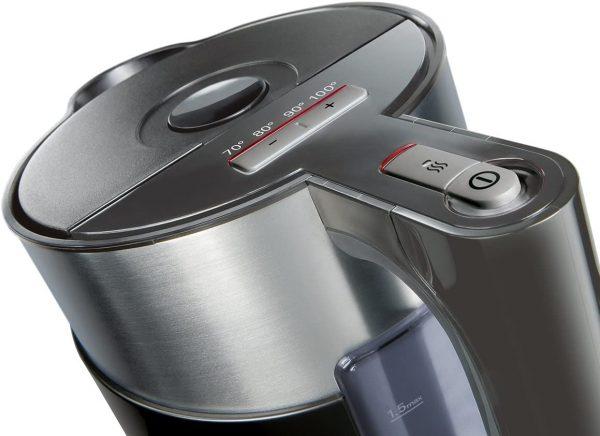 Ấm Đun Nước Siemens TW86103P với 4 mức nhiệt độ, cho phép người dùng thoải mái điều chỉnh theo nhu cầu