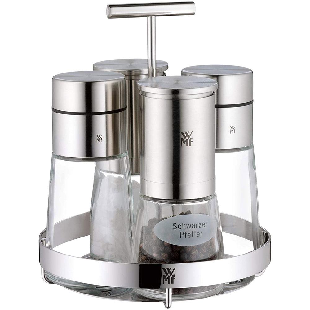 Bộ Hũ Đựng Gia Vị WMF Ceramill DE LUXE Set 5 với thiết kế tinh tế, tiết kiệm không gian cho khu vực bếp