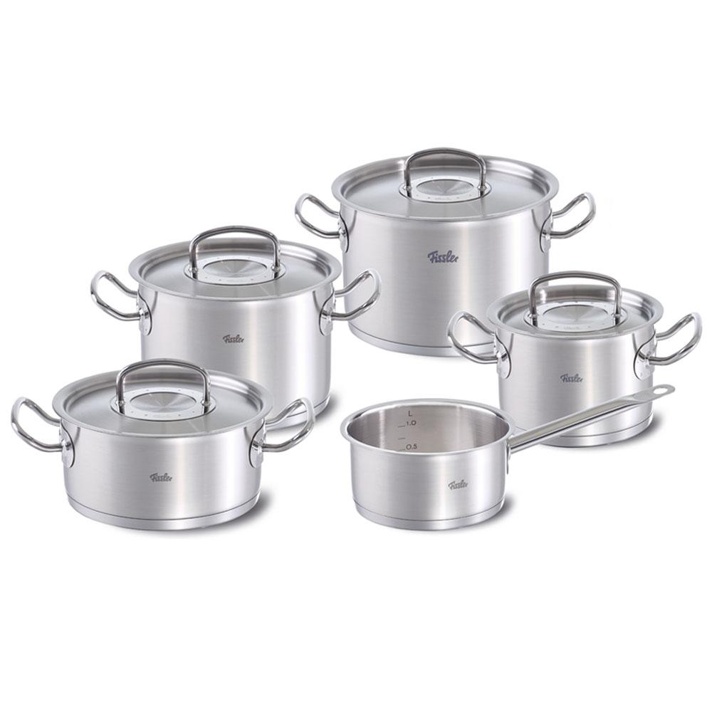 Bộ Nồi Inox Fissler Original Pro 5 Món sự lựa chọn hoàn hảo cho không gian bếp của bạn